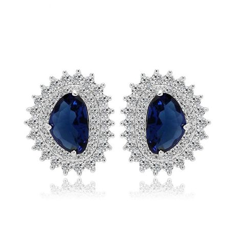 Stud Earrings AAA Zircon Simple Earrings Exquisite Fashion Jewelry for girls NHTM180433's discount tags