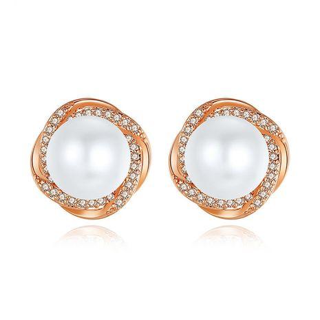 Stud Earrings Fashion New Women's Pearl Copper Zirconium Stud Earrings S925 Silver Earrings NHTM180449's discount tags