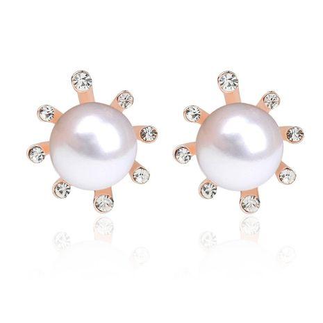 Simple fashion flowers pearl earrings sun flower earrings wholesale NHDP180303's discount tags