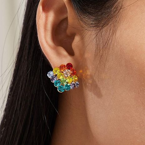Explosion earrings fashion square earrings bohemian acrylic original earrings wholesale NHKQ180318's discount tags
