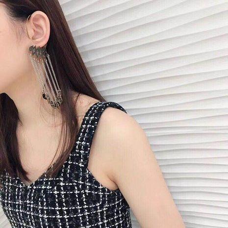 Fashion show ear hook tassel metal luxury earrings dance party earrings NHWJ180277's discount tags