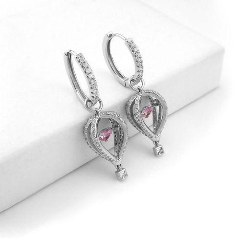 New hot air balloon earrings lantern earrings micro-inlaid zircon ear ring girl NHLJ180392's discount tags