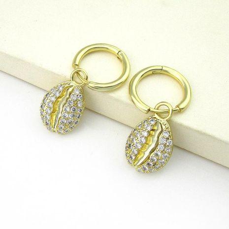Micro-inlaid zircon shell earrings girls long earrings new earrings NHLJ180409's discount tags