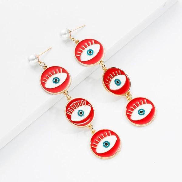 Earrings new gold-plated demon eye earrings fashion punk wind earrings for women NHOT180484