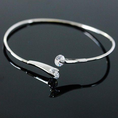 Bracelet double diamond zircon line open bracelet bracelet for girls NHCU180245's discount tags