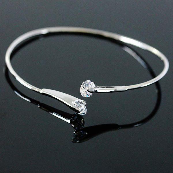 Bracelet double diamond zircon line open bracelet bracelet for girls NHCU180245