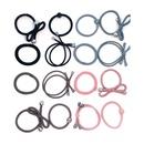 16 loaded hair ring set gray elegant handmade high elastic foundation flower bow hair ring hair accessories NHIM180373