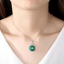 Necklace Women39s Tourmaline Necklace Copper Zirconium Pendant NHTM180456