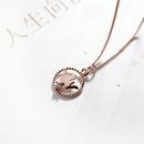 Jewelry Fashion Classic Diamond Crown Necklace Womens Short Pendant NHLJ180399