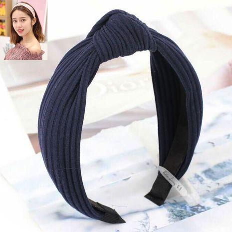 Korean hair accessories headdress knitted solid color fabric cross knotted headband headband head buckle ladies headband NHSC180751's discount tags