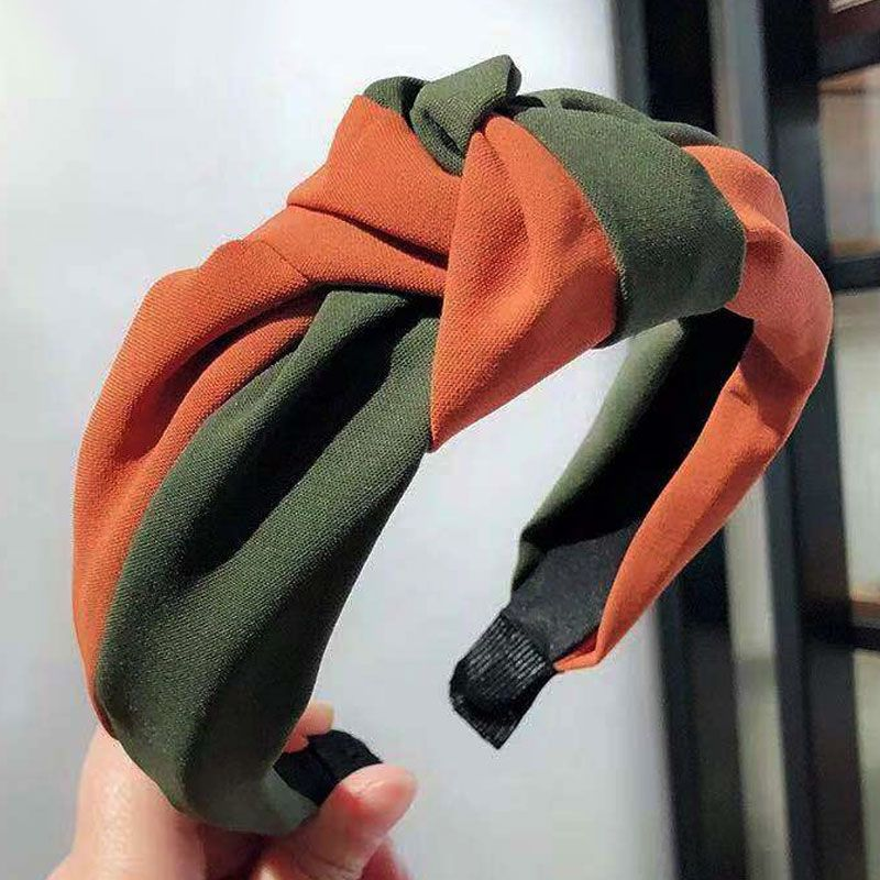 Korean style hair accessories Korean version of the wild two-color middle knot knotted wide-brimmed headband headband head buckle ladies headband NHSC180756