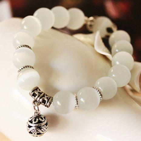 Boutique mode sauvage opale à la main bracelet pierre naturelle cristal naturel monocouche perles opale bracelet NHSC180724's discount tags