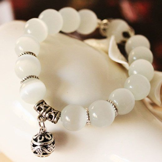 Boutique fashion wild handmade opal bracelet natural stone natural crystal single layer beads opal bracelet NHSC180724