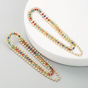 Earrings women retro temperament fringe with rhinestone earrings long earrings claw chain fashion earrings NHLN180655's discount tags
