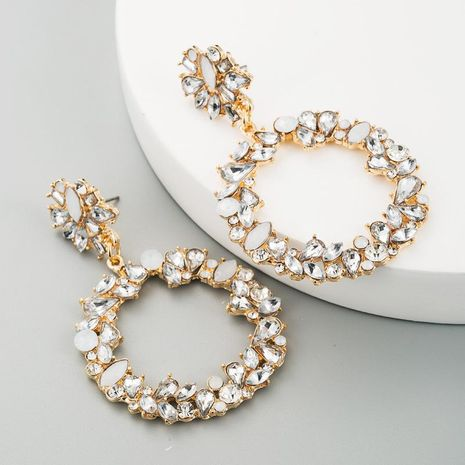 Round alloy with rhinestone earrings earrings female geometric jewelry wholesales fashion NHLN180665's discount tags
