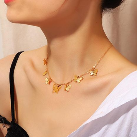 New creative butterfly necklace exquisite fashion pendant clavicle chain wholesale NHNZ180828's discount tags