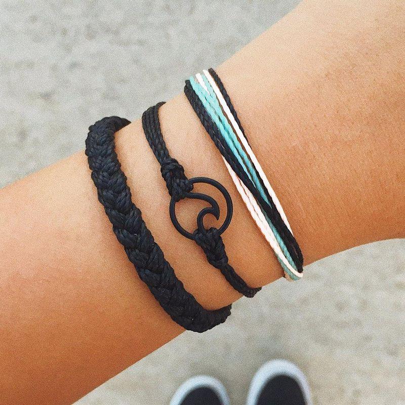 Creative fashion hand-woven wave bracelet wild personality color bracelet NHNZ180824