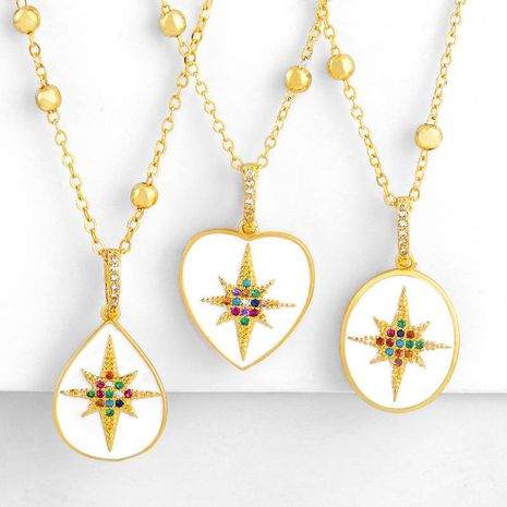 Necklace geometric drop necklace necklace sweater chain micro-set diamond star pendant necklace wholesales fashion NHAS180787's discount tags