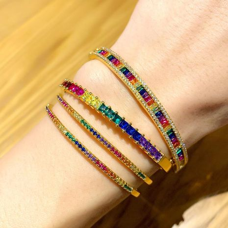 Bracelet full diamond plated gold hand jewelry women NHAS180777's discount tags