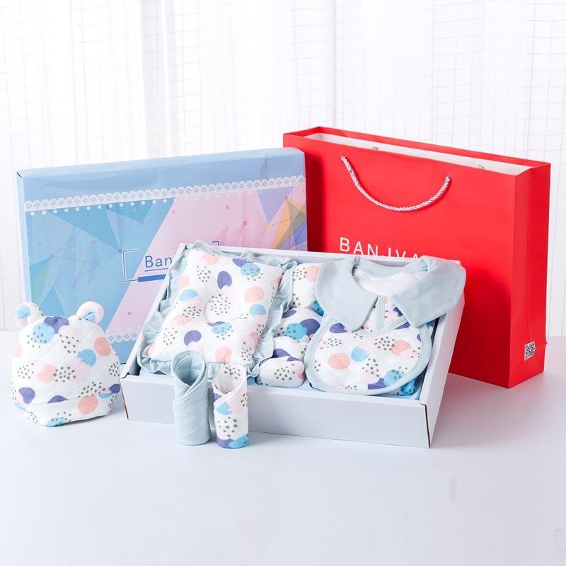 Newborn gift box newborn autumn and winter cotton baby clothes set supplies baby high-end gift NHQE180534