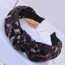 Accessoires de cheveux de style coren Version corenne du motif lopard sauvage noeud moyen simple nou bandeau  larges bords bandeau boucle de tte bandeau pour dames NHSC180755