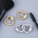 Jewelry Accessories Copper Micro Inlay Zircon Full Diamond Love Jewelry Buckle Accessories NHAS180769