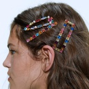 Super flash personality set rhinestone hair clip color diamond edge clip hair accessories wholesales fashion NHMD180838