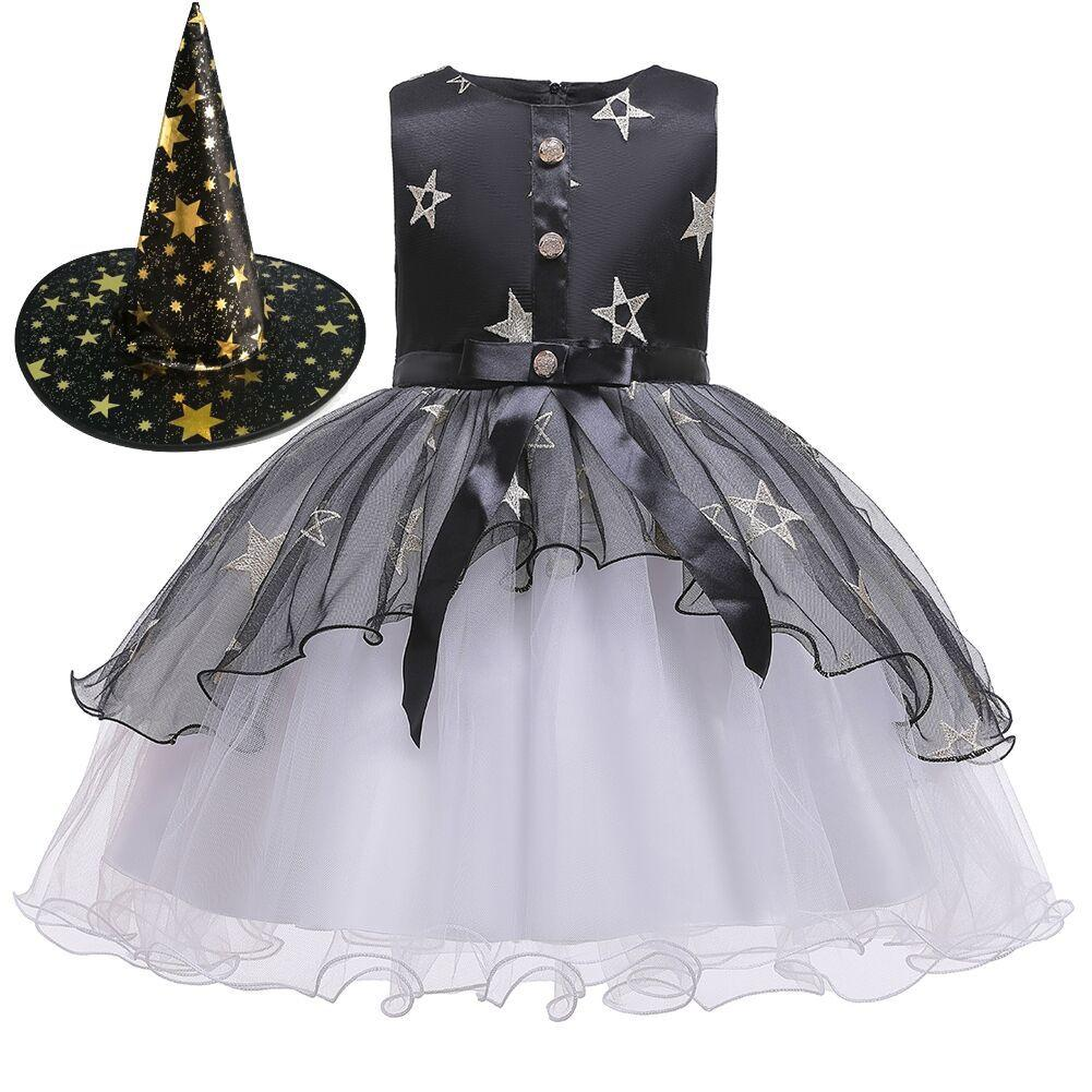 Halloween Little Witch Costume Children's Dresses Girls Princess Tutu Wholesale NHTY180623