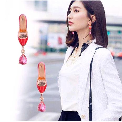 Exquisitos aretes de personalidad de tacón alto rojo OL dulce de moda coreana NHSC181146's discount tags
