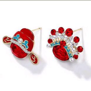 925 silver needle Korean fashion sweet OL Huadan asymmetric temperament earrings NHSC181147's discount tags