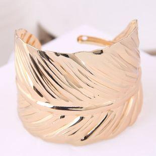 Fashion bracelet metal simple leaf personality open bracelet NHSC181150's discount tags