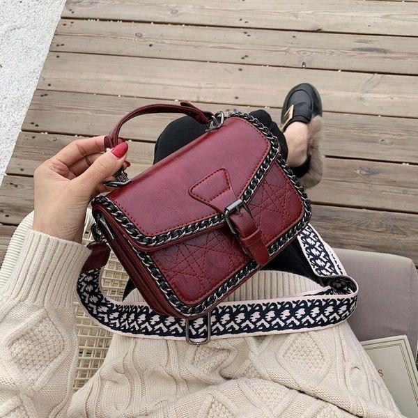 PU solid color bag wolesale women bags new fashion single shoulder bag Messenger bag NHLD181136