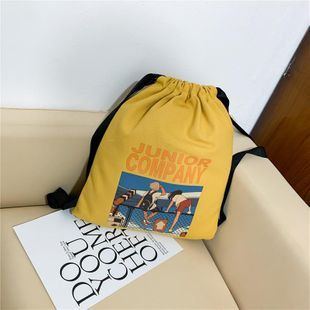 Women's bags wholesale new shoulder bag large capacity printing drawstring bucket bag NHTC180896's discount tags
