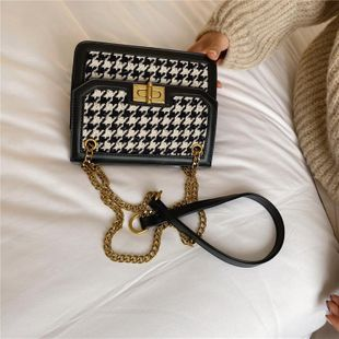 Women's bags wholesale new chain bag fashion wide shoulder strap Messenger bag small square bag NHTC180915's discount tags