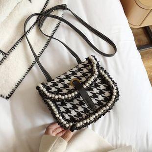 Retro women's bags wholesale new fashion plaid saddle bag simple shoulder slung bag NHTC180920's discount tags
