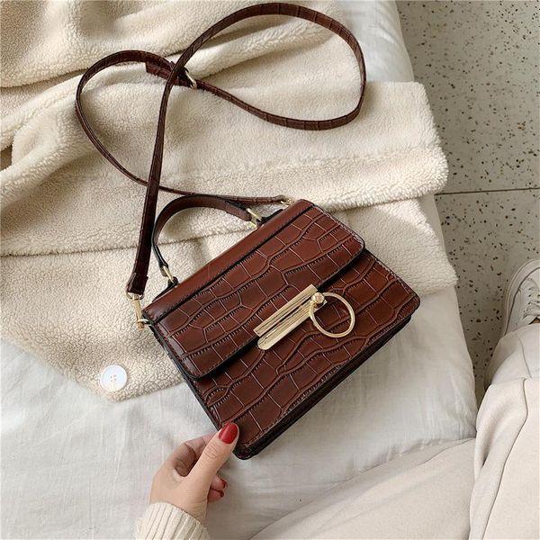 Wholesale women bags new stone pattern messenger bag fashion handbag NHTC180929