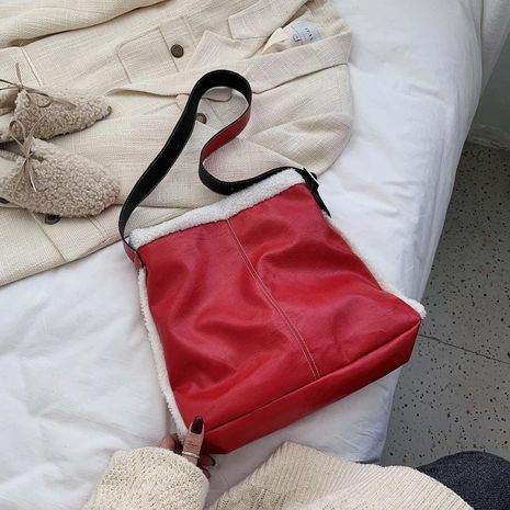 Wholesale women bags new fashion fur black slung tote bag NHTC180941's discount tags