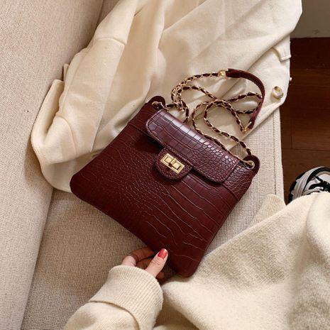 New crocodile pattern shoulder bag wholesale women bags chain wandering bag Messenger bag NHTC180963's discount tags