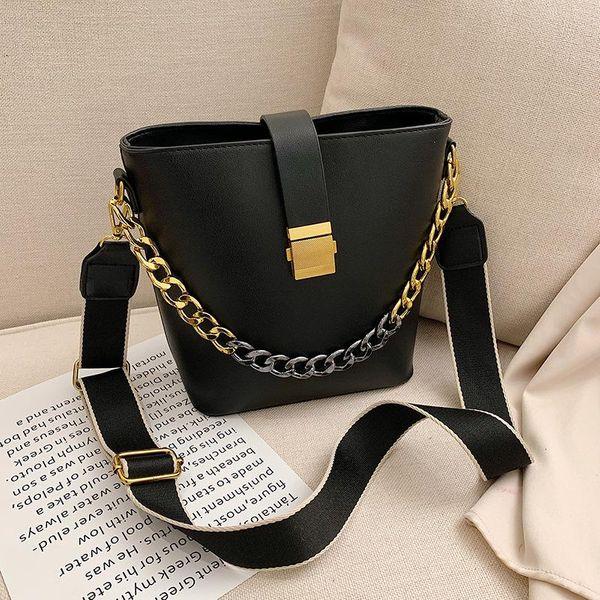 Wholesale women bags new fashion chain shoulder slung bucket bag NHTC180967
