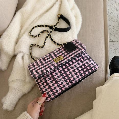 Wool package women's bag new messenger bag chain bag fashion small square bag NHTC180978's discount tags
