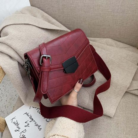Wolesale women bags new retro messenger bag fashion wide shoulder strap small square bag NHTC180992's discount tags