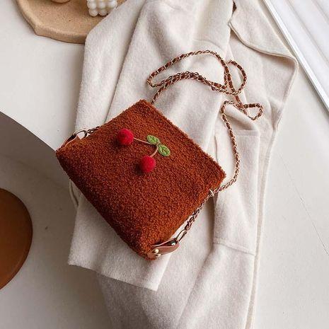 Plush wolesale women bags new cute messenger bag fashion bucket bag NHTC180999's discount tags