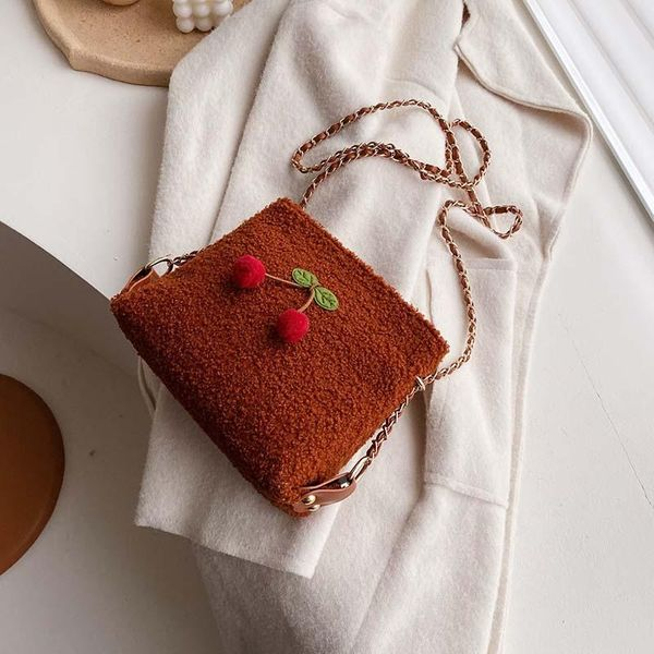 Plush wolesale women bags new cute messenger bag fashion bucket bag NHTC180999