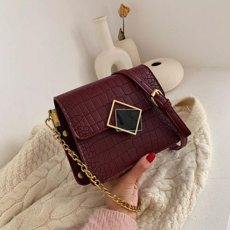 Wolesale women bags new fashion embroidery thread rhombic slung small square bag NHTC181015's discount tags