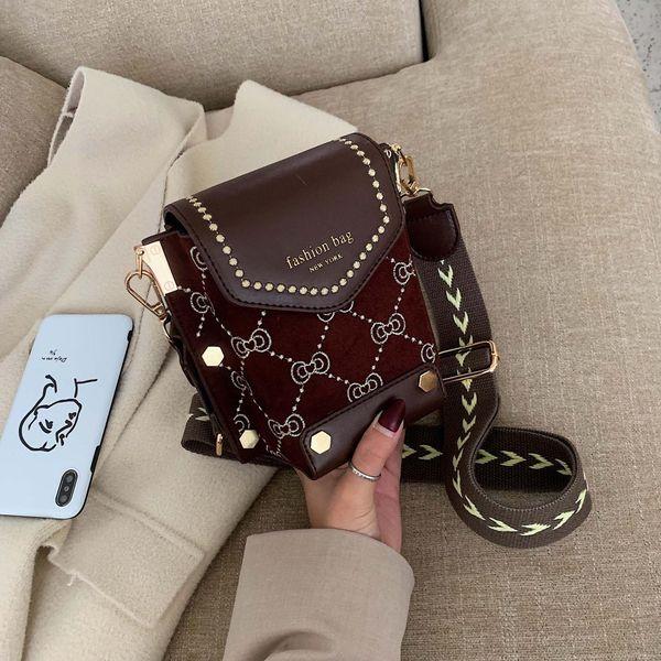 Wolesale women bags new fashion broadband small square bag shoulder Messenger bag NHTC181028