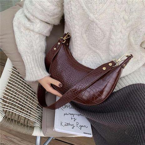 Wolesale women bags new fashion single shoulder bag crossbody bag retro crocodile pattern dumplings package NHXC181068's discount tags