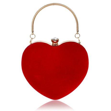 Hot heart-shaped handbag lady fashion makeup bag dinner bag clutch bag NHYM180872's discount tags
