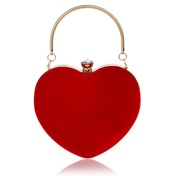 Hot heart-shaped handbag lady fashion makeup bag dinner bag clutch bag NHYM180872