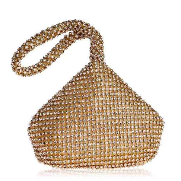 Hot dinner bag with diamonds ladies banquet rhinestone bag handbag NHYM180867