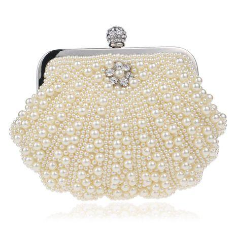 Hot beaded evening bag female fashion pearl banquet bag evening dress handbag NHYM180876's discount tags